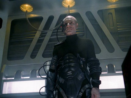 Jean-Luc Picard (Patrick Stewart) is turned into Locutus of Borg, courtesy Paramount, 2013