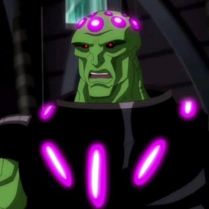 Brainiac in SUPERMAN UNBOUND, courtesy Warner Home Video, 2013