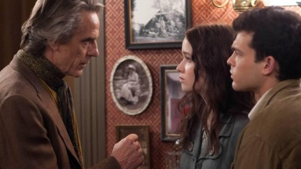 Uncle Macon (Jeremy Irons) warns his niece (Alice Englert) and her boyfriend Ethan (Alden Ehrenreich) in BEAUTIFUL CREATURES, courtesy Warner Home Video, 2013