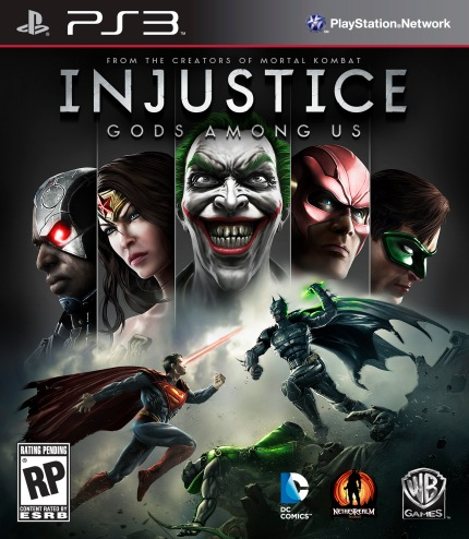 Box Art for INJUSTICE Video Game, courtesy Warner Interactive, 2013