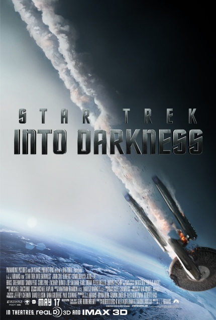 Theatrical Poster for STAR TREK INTO DARKNESS, courtesy Paramount Pictures, 2013