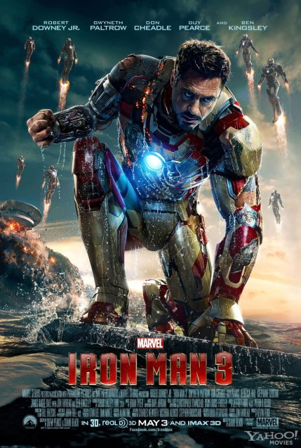 Iron Man 3 Theatrical Poster, courtesy Marvel Films/Disney, 2013