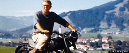 Steve McQueen in an iconic scene from THE GREAT ESCAPE, courtesy Fox Home Video, 2013